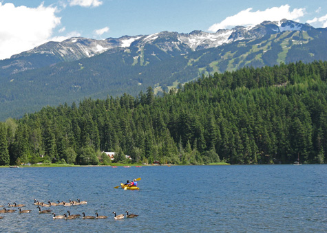Paddling in Whistler Canada