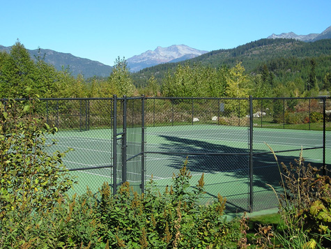 Tennis Court in Whistler BC Canada