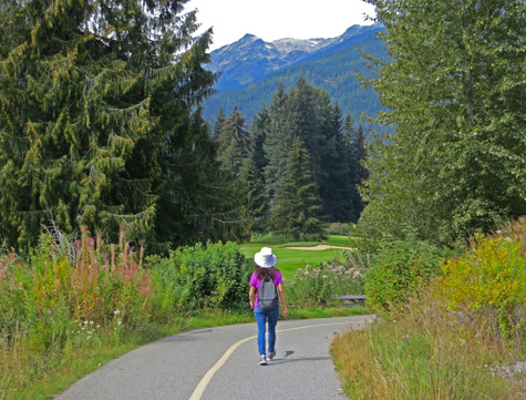 Walking in Whistler Canada